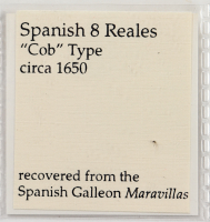 Maravillas Shipwreck Spanish Colonial 8 Reales Silver Cob Coin, Mexico Mint with COA at PristineAuction.com