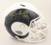 "Eric Dickerson Signed Rams Full-Size AMP Alternate Speed Helmet Inscribed ""HOF 99"" (Beckett COA & Denver Autographs COA) (See Description) at PristineAuction.com"