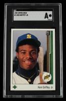 Ken Griffey Jr. 1989 Upper Deck #1 RC (SGC Authentic) at PristineAuction.com