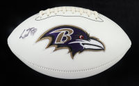 Lamar Jackson Signed Ravens Logo Football (Beckett COA) (See Description) at PristineAuction.com