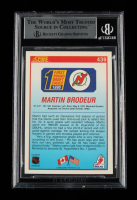 Martin Brodeur Signed 1990-91 Score #439 RC (BGS Encapsulated) at PristineAuction.com