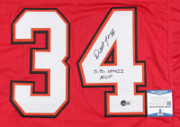 "Dexter Jackson Signed Jersey Inscribed ""S.B. XXXVII MVP"" (Beckett COA) (See Description) at PristineAuction.com"