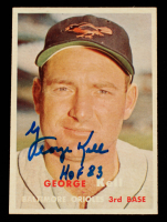 """George Kell Signed 1957 Topps #230 Inscribed """"HOF 83"""" (Beckett COA) at PristineAuction.com"""