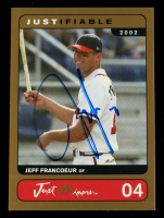 Jeff Francoeur Signed 2002 Justifiable Prototypes Gold #4 (Beckett COA) at PristineAuction.com