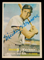 Mickey Vernon Signed 1957 Topps #92 (Beckett COA) at PristineAuction.com
