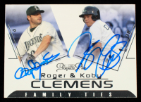 Roger Clemens & Koby Clemens Signed 2006 TRISTAR Prospects Plus Family Ties #1 (Beckett COA) at PristineAuction.com