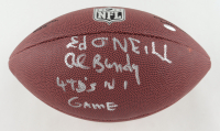 """Ed O'Neill Signed """"Married... with Children"""" NFL Football Inscribed """"Al Bundy"""" & """"4 T.D's In 1 Game"""" (Schwartz Sports COA) (See Description) at PristineAuction.com"""