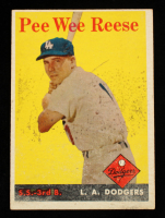 Pee Wee Reese 1958 Topps #375 at PristineAuction.com