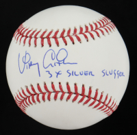 "Vinny Castilla Signed OML Baseball Inscribed ""3x SILVER SLUGGER"" (PSA COA) at PristineAuction.com"