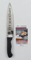 """Miko Hughes Signed """"Pet Sematary"""" Replica Stainless Steel Knife Inscribed """"Gage"""" (JSA COA) at PristineAuction.com"""