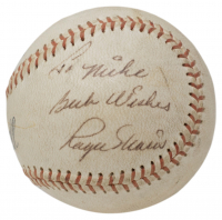"""Roger Maris Signed Baseball Inscribed """"Best Wishes"""" with Display Case (Beckett LOA) at PristineAuction.com"""