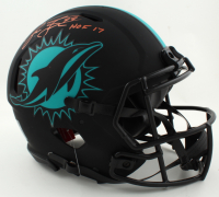 """Jason Taylor Signed Dolphins Full-Size Authentic On-Field Eclipse Alternate Speed Helmet Inscribed """"HOF 17"""" (JSA COA) (See Description) at PristineAuction.com"""