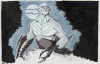 """Tom Hodges - Azog - """"The Hobbit"""" - Signed 11x17 ORIGINAL Artwork (PA COA) at PristineAuction.com"""