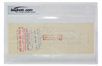 Babe Ruth Signed Personal Bank Check (BGS Encapsulated) at PristineAuction.com