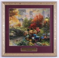 "Thomas Kinkade ""Mickey & Minnie Mouse"" 16x16 Custom Framed Print Display (See Description) at PristineAuction.com"