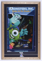 """Disney Pixar """"Monsters, Inc."""" 15x22 Custom Framed Print Display with Ride Pin (See Description) at PristineAuction.com"""