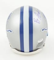 Barry Sanders Signed Lions Throwback Mini Helmet (Schwartz Sports COA) at PristineAuction.com