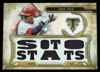 Juan Soto 2020 Topps Triple Threads Relics Gold #TTRJS #1/9 at PristineAuction.com