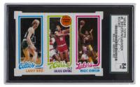 Larry Bird RC / Julius Erving TL / Magic Johnson RC 1980-81 Topps #6 (SGC 7) at PristineAuction.com