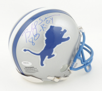 """Billy Sims Signed Lions Throwback Mini Helmet Inscribed """"80 ROY"""" (Schwartz Sports COA) at PristineAuction.com"""