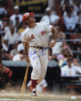 """Pete Rose Signed Reds 16x20 Photo Inscribed """"Hit King"""" (JSA COA) at PristineAuction.com"""
