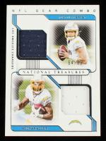 Justin Herbert / Keenan Allen 2020 Panini National Treasures NFL Gear Combo Materials #21 #64/99 at PristineAuction.com