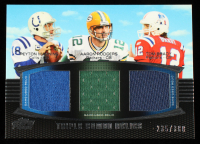 Peyton Manning / Aaron Rodgers / Tom Brady 2011 Topps Prime Triple Relics #MRB #235/388 at PristineAuction.com