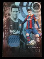 Lionel Messi 2020-21 Panini Illusions La Liga Memorabilia Silver #21 #28/99 at PristineAuction.com