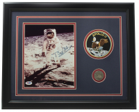 Buzz Aldrin Signed 11x14 Custom Framed Photo Display with NASA Patch (PSA COA) at PristineAuction.com