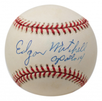 """Edgar Mitchell Signed OAL Baseball Inscribed """"Apollo 14"""" (JSA Hologram) at PristineAuction.com"""