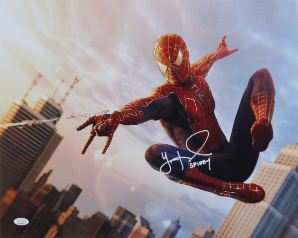 """Yuri Lowenthal Signed """"Spiderman"""" 16x20 Photo Inscribed """"SPIDEY"""" (JSA Hologram) at PristineAuction.com"""