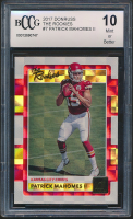 Patrick Mahomes II 2017 Donruss The Rookies #7 (BCCG 10) at PristineAuction.com