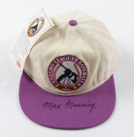 Max Manning Signed Negro Leagues Baseball Logo Snapback Hat (Beckett COA) at PristineAuction.com