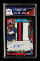 Christian Pache 2021 Topps Inception Autograph Jumbo Patch Red #AJPCP RC 47/50 (HGA 9) at PristineAuction.com