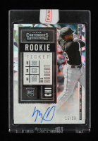 Luis Robert 2020 Panini Contenders Variations Cracked Ice Ticket Autograph #119 RC 15/23 at PristineAuction.com
