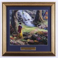 "Thomas Kinkade ""Snow White and the Seven Dwarfs"" 17x17 Custom Framed Print at PristineAuction.com"