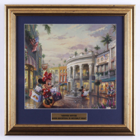 """Thomas Kinkade """"Minnie Mouse Goes Shopping in Beverly Hills"""" 17x17 Custom Framed Print (See Description) at PristineAuction.com"""