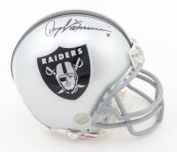 Daryle Lamonica Signed Raiders Mini-Helmet (JSA ALOA) at PristineAuction.com