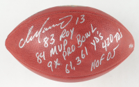 """Dan Marino Signed LE """"The Duke"""" Logo NFL Official Game Ball with Multiple Inscriptions (Fanatics Hologram) (See Description) at PristineAuction.com"""