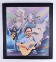 Dave Matthews Signed 25x29 Custom Framed Canvas Display (PSA Hologram) at PristineAuction.com