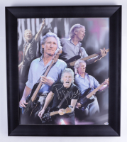 Roger Waters Signed 25x29 Custom Framed Canvas Display (PSA Hologram) at PristineAuction.com