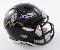 Ray Lewis Signed Ravens Speed Mini Helmet (Beckett COA) at PristineAuction.com