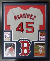 Pedro Martinez Signed 34x42 Custom Framed Jersey Display (JSA Hologram) at PristineAuction.com