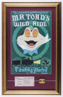 "Disneyland ""Mr. Toad's Wild Ride"" Fantasyland 16x25 Custom Framed Display with Original Ticket & Ride Pin (See Description) at PristineAuction.com"