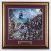 "Thomas Kinkade ""Pirates of the Caribbean"" 17x17 Custom Framed Print at PristineAuction.com"