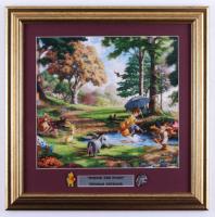 "Thomas Kinkade ""Winnie the Pooh"" 17x17 Custom Framed Print Display with Set of (2) Pooh Pins at PristineAuction.com"