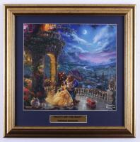 "Thomas Kinkade ""Beauty and the Beast"" 17x17 Custom Framed Print at PristineAuction.com"
