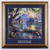 "Thomas Kinkade ""The Princess and the Frog"" 17x17 Custom Framed Print at PristineAuction.com"