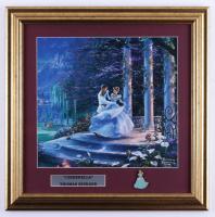 "Thomas Kinkade ""Cinderella"" 17x17 Custom Framed Print Display with ""Cinderella"" Pin at PristineAuction.com"