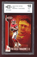 Patrick Mahomes II 2019 Sage Aspire Red #ASPPM1 (BCCG 10) at PristineAuction.com